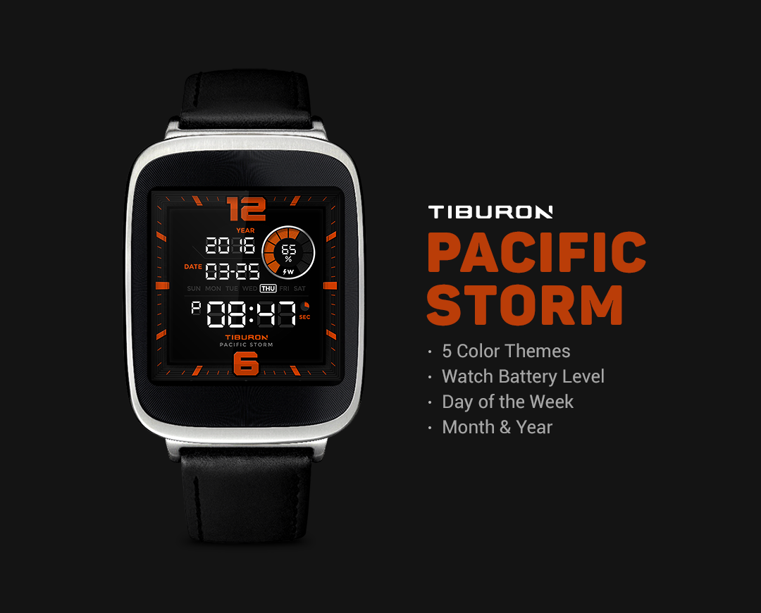 Pacific Storm watchface by Tib Screenshot 2