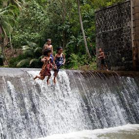 Jumping by Deddy  Heruwanto - Babies & Children Children Candids