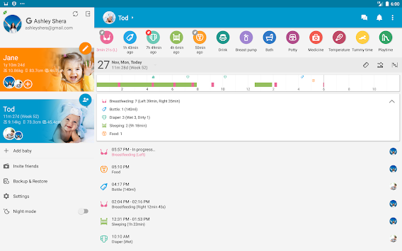 Baby Daybook - Daily Tracker APK screenshot thumbnail 9