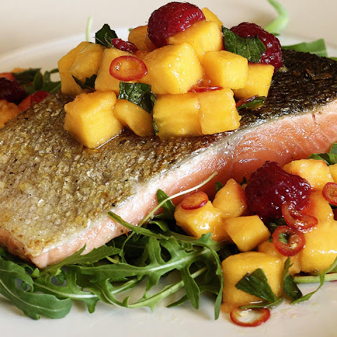 Crispy Sea Trout with Pawpaw Salsa