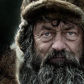 Wild man by Izidor Gasperlin - People Portraits of Men ( senior citizen )