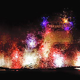 Rainy Day by Harun Rashid - Digital Art Abstract