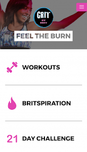 GRIT by Brit Fitness app screenshot for Android
