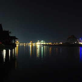 losari area night by Hartono Wijaya  - City,  Street & Park  Night ( landscapes, city, losari, night, nightscape, cityscape, makassar, travel, indonesia )
