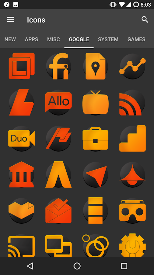 ORANGE - Icon Pack Screenshot 1