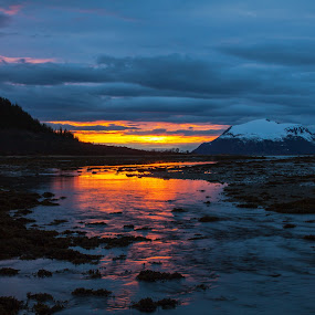 Sunset in Roksøy by Benny Høynes - Landscapes Sunsets & Sunrises ( canon, water, bennyhøynes, mk2, sunset )
