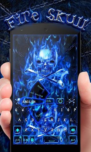 FireSkull GO Keyboard Theme screenshot 1