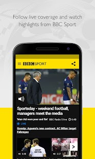 BBC Sport Screenshot