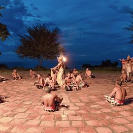 by Eko Probo D Warpani - People Musicians & Entertainers ( bali, tari kecak, fire dance, nikkor, sunset. beach, kecak, tamron, denpasar, historic, holiday, pulau dewata, outdoor, tanah lot, nikon, dance, pura )