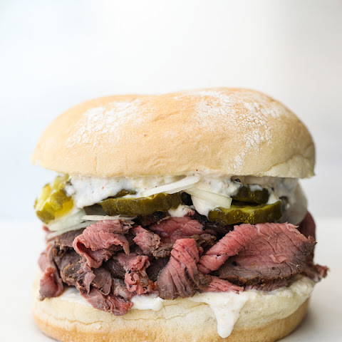 Sirloin Steak Sandwiches with Horseradish Sauce