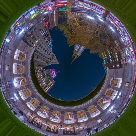 Boston Public Library in the round by Paul Gibson - Digital Art Places ( tiny, planet, boston, digital art, library, round )