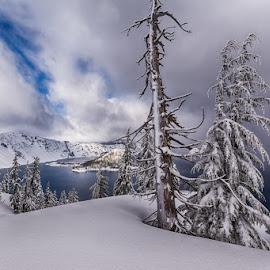 by Trisha Payne - Landscapes Weather ( oregon, crater lake, lake, pacific northwest, seven wonder of the world )