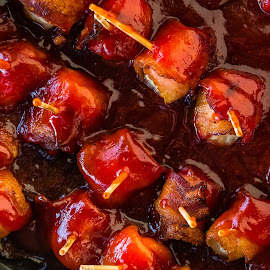 Bacon Wrapped Water Chestnuts by Dave Lipchen - Food & Drink Cooking & Baking ( bacon wrapped water chestnuts )