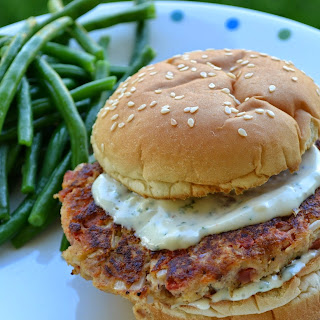 Tuna Burger with Cilantro Garlic Aioli Recipe and Summer Grilling Party with Red Gold Tomatoes