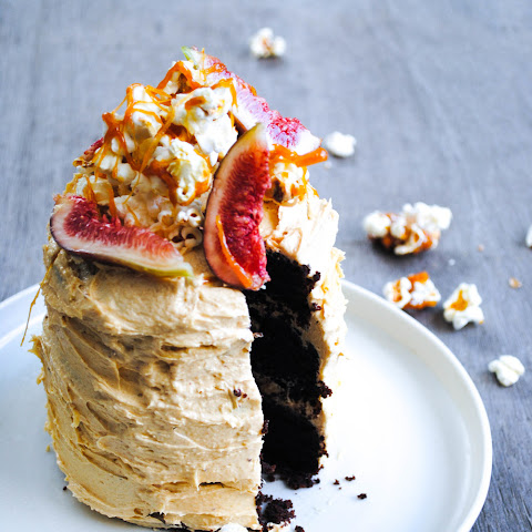 Chocolate Espresso Cake With Peanut Butter Buttercream