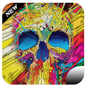 Colorful skull head theme APK for Bluestacks