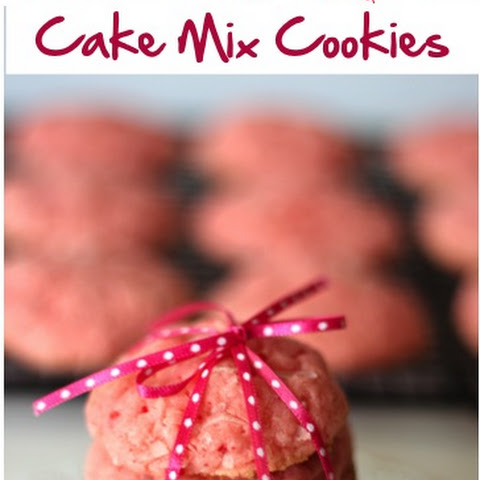 Strawberry Coconut Cake Mix Cookies Recipe!