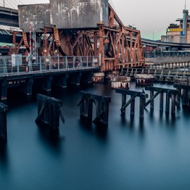 North Bound by Michael Phillips - Buildings & Architecture Bridges & Suspended Structures ( boston, nikon d3100, long exposure, bridge, daylight, river )