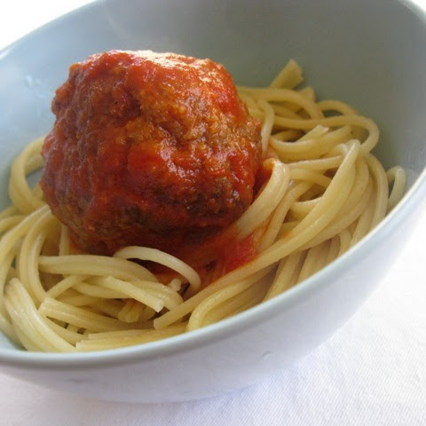 Colossal Meatballs and Spaghetti