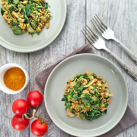 Scrambled Tempeh with Watercress