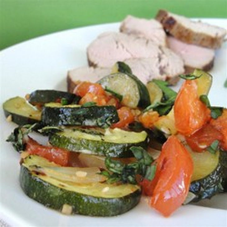 Roasted Garlic Zucchini and Tomatoes Recipe | Yummly