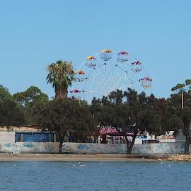 Castle Fun park by Vera Thyssen - City,  Street & Park  Amusement Parks ( water, amusement park, holidays, entertainment, ferris wheel )