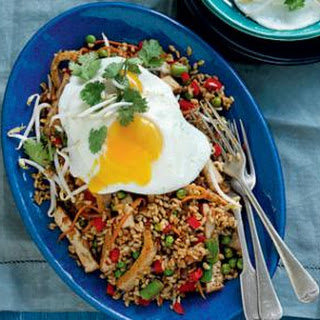 Spicy Tofu Rice With Fried Egg