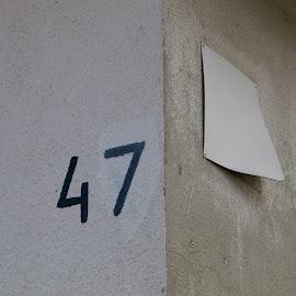 74 by Sven House - City,  Street & Park  Street Scenes ( corner, white, minimal, number, housenumber )