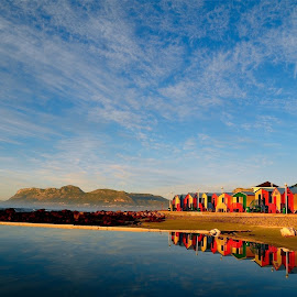 Reflections by Francisco Little - Landscapes Beaches ( sky, vista, sea, view, beach, capetown, rainbow, relax, tranquil, relaxing, tranquility )