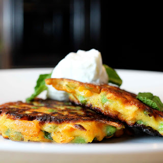Sweet Potato and Pea Cakes