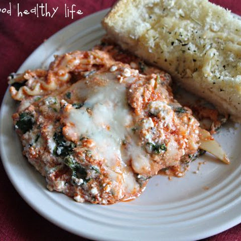 3-Cheese Spinach Lasagna