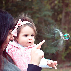 Pop! by Danielle C - Babies & Children Children Candids ( bubble, happy, bubbles, fun, toddler, popped bubble )