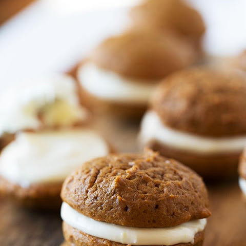 Mini Gingerbread Whoopie Pies