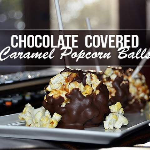 Chocolate Covered Popcorn Balls