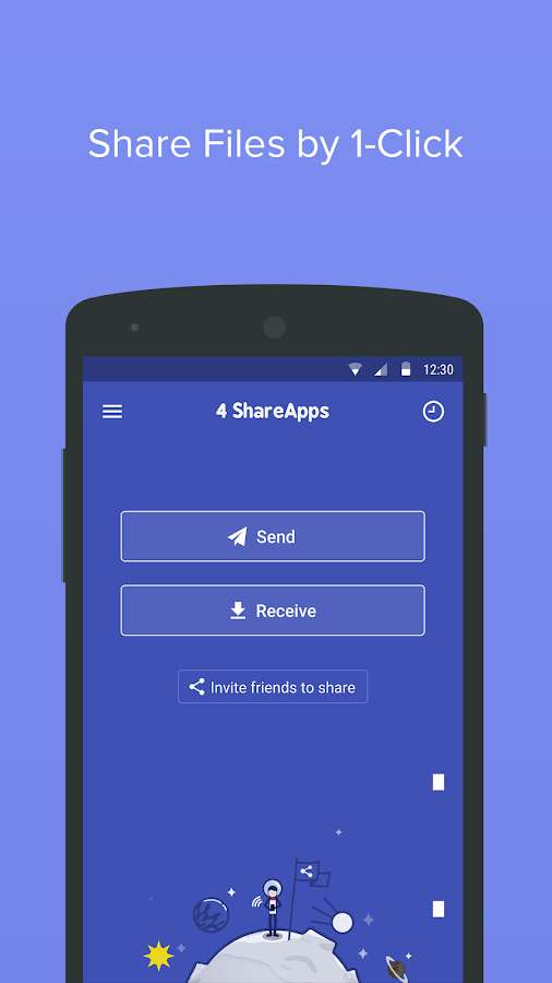 4 Share Apps - File Transfer Screenshot 0