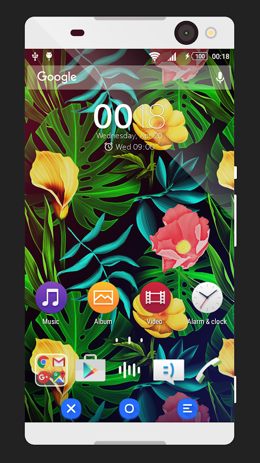 Coloring Blue | Xperia Theme Screenshot 0