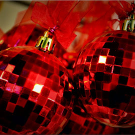 disco baubles by Nic Scott - Public Holidays Christmas ( bauble, xmas )
