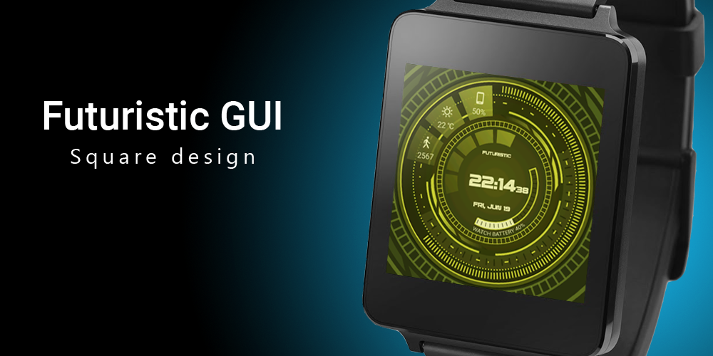 Futuristic GUI Watch Face Screenshot 7