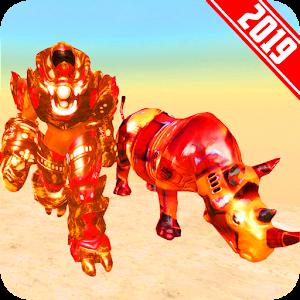 Grand US Rhino Robot City Battle For PC / Windows 7/8/10 / Mac – Free Download