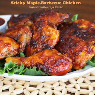 Sticky Maple Barbecue Chicken
