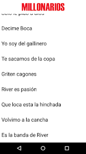 Canciones de River - screenshot