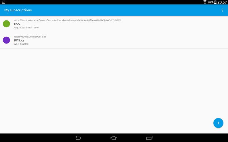 ICSx⁵ (ICSdroid) – sync Webcal & .ics calendars Screenshot 9