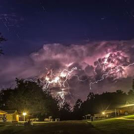 Light Buster by Tim Kato - Landscapes Weather ( stormy, urban, lightning, urban landscapes, weather, storms, storm, landscapes, landscape )
