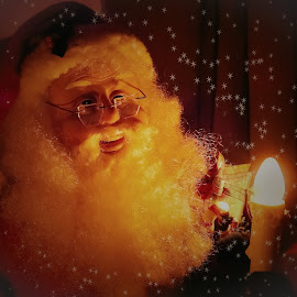 Santa Claus  by Sue Delia - Public Holidays Christmas ( holiday, santa claus, christmas, night, presents,  )