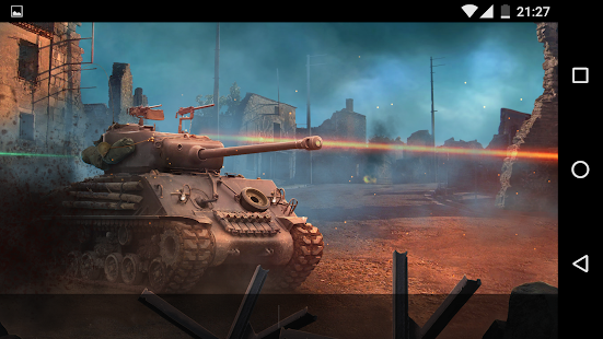 Sherman tank in furious battle live wallpaper Screenshot