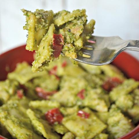 Mini Ravioli Salad with Parsley-Caper Pesto Recipe | Yummly