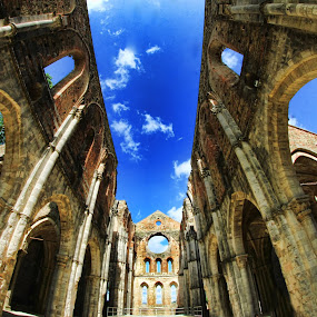 Galgano by Marco Caciolli - Buildings & Architecture Statues & Monuments ( monuments, sky, hdr, church, blue, italy )