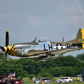 Spectator Pass by Greg Harrison - Transportation Airplanes ( mustang, vlado, wwii aircraft, p51-d, quad city air show )