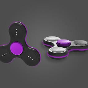 Orion Black/Purple Cap by Justin Kifer - Artistic Objects Technology Objects ( technology objects, product, technology, colorful, color,  )