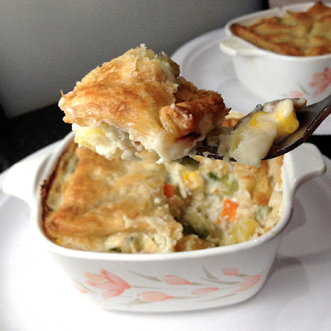 Vegetable & Gorgonzola Pot Pie for Two
